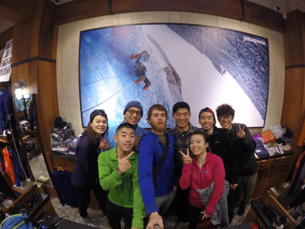 Some of the crew at the Patagonia Hong Kong store.