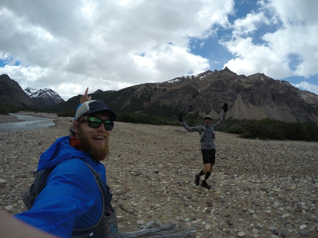 Pure stoke for adventure. Jonathan Byers and I in the heart of Valle Hermoso, Patagonia, Chile.