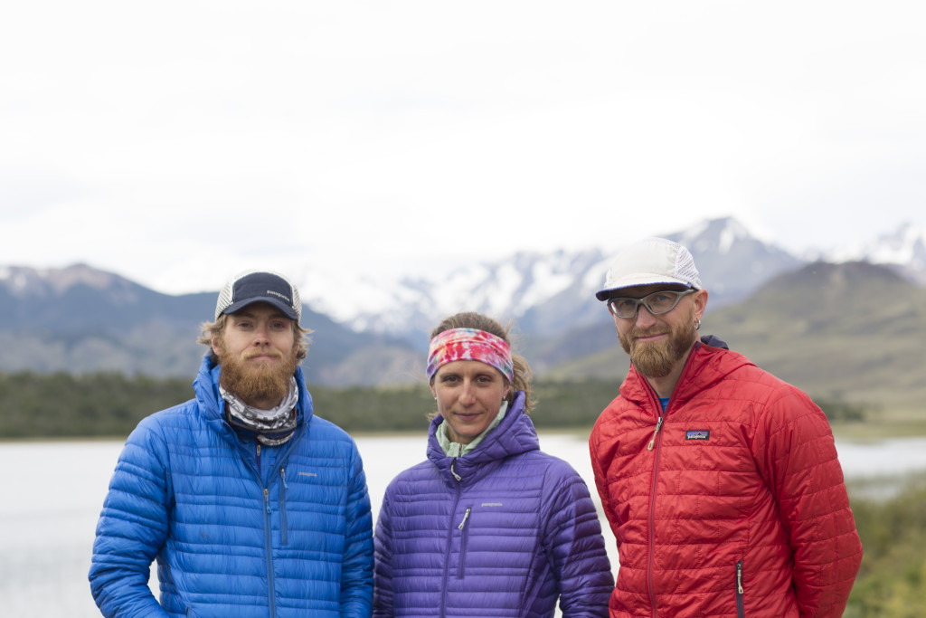 Myself, Krissy Moehl and Jeff Browning in Patagonia