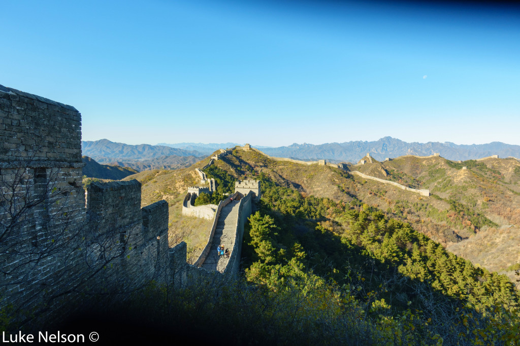 Seriously, a wall on the top of the ridges. It goes 6000 miles!